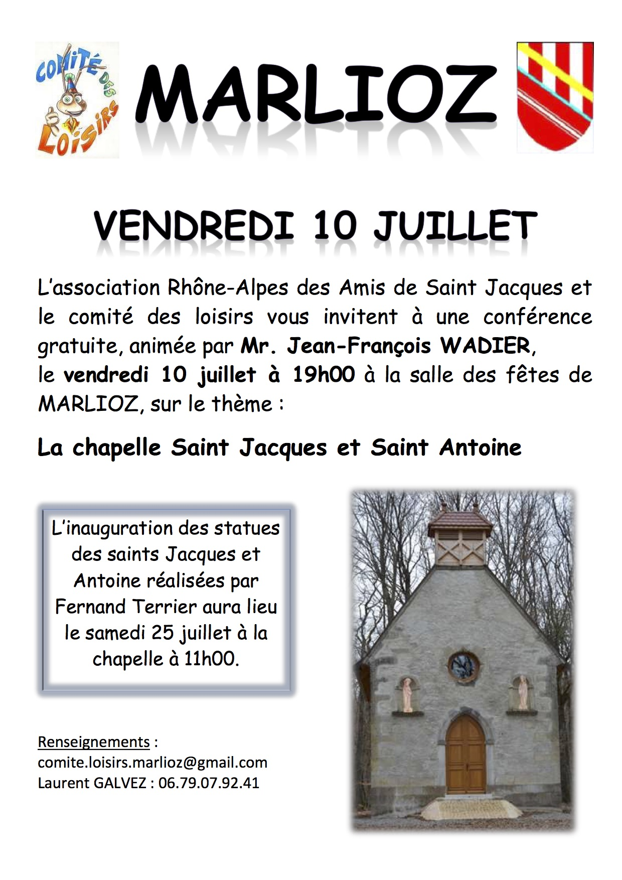 Diapo conférence de Jean-François Wadier. Cliquez pour agrandir